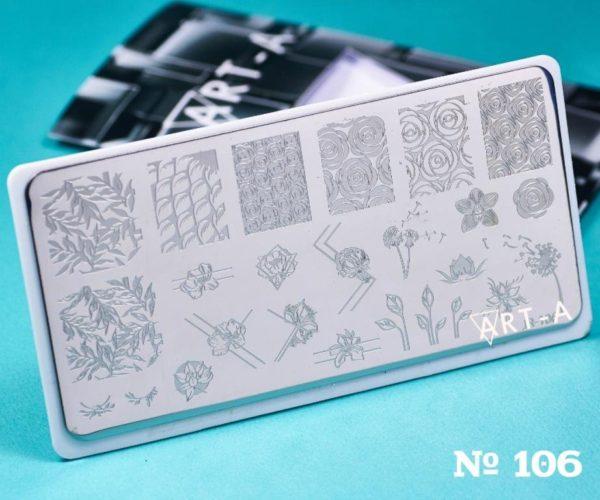 Пластина для стемпинга Art-A 106