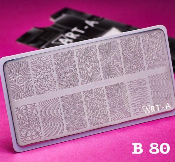 Пластина для стемпинга Art-A B080