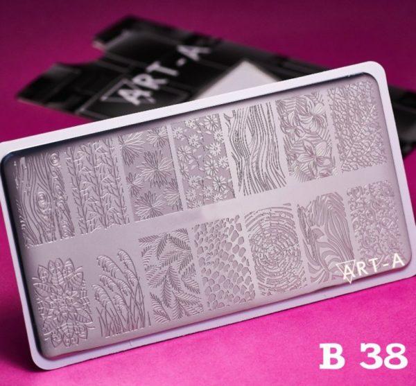 Пластина для стемпинга Art-A B038