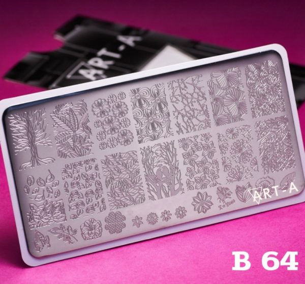 Пластина для стемпинга Art-A B064