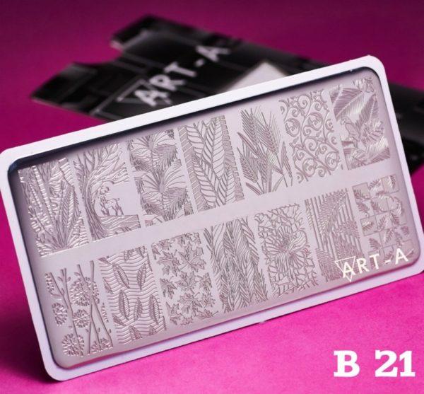 Пластина для стемпинга Art-A B021