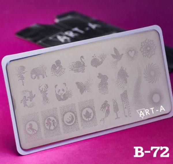 Пластина для стемпинга Art-A B072