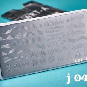 Пластина для стемпинга Art-A J004