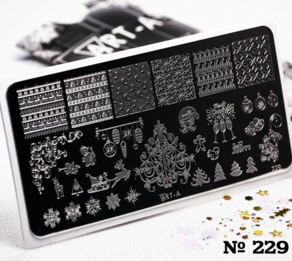 Пластина для стемпинга Art-A 229